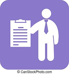 Examination - Exam, work, college icon vector image. Can...