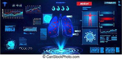 Examination of a sick person, Coronavirus 2019-nCoV concept