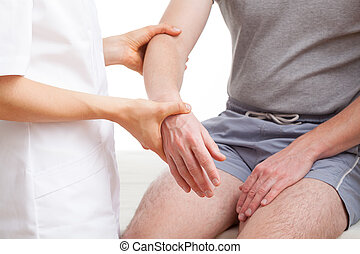 Examination of arm