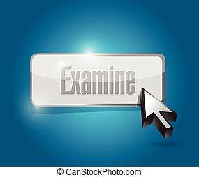 examiner, conception, bouton, illustration