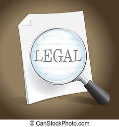 examiner, document, légal