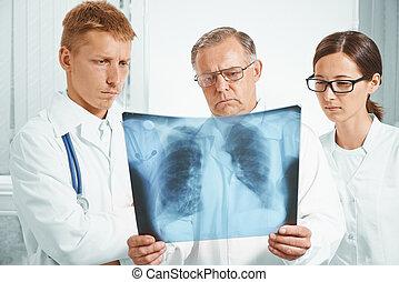 examiner, image, poumons, rayon x