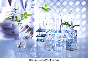 examiner, scientifique, usines