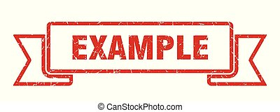 example grunge ribbon. example sign. example banner