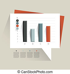 Example of business flat design graph. Infographics chart.
