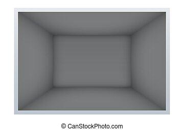 Example of empty dark room