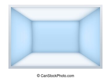 Example of empty room with blue walls