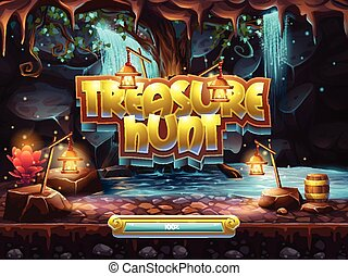 Example of the boot screen to play treasure hunt.