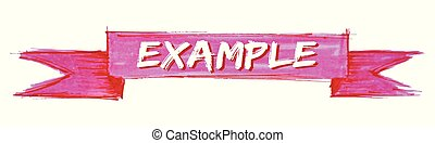 example ribbon - example hand painted ribbon sign