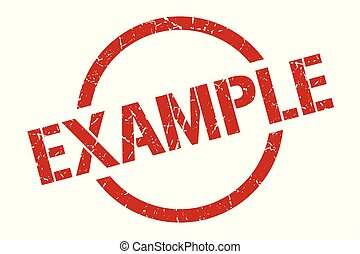 example stamp - example red round stamp