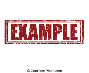 Example-stamp - Grunge rubber red stamp with word example...