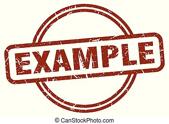 example stamp isolated on white