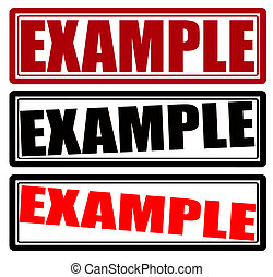 Example - Stamp with word example inside, vector...