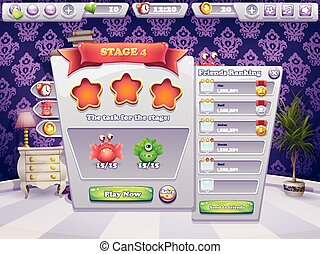 Example of tasks to perform at the level of a computer game monsters