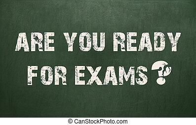 exams., bereit, sie, tafel, beschaffenheit