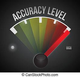 exatidão, nível, nível, medida