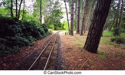 Exbury Gardens Railway which runs for 1.25 miles round the northern part of the these spectacular gardens in Hampshire, England