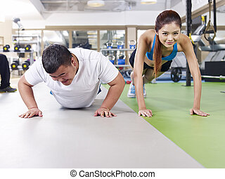excès poids, exercisme, homme