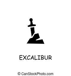 Excalibur flat vector icon