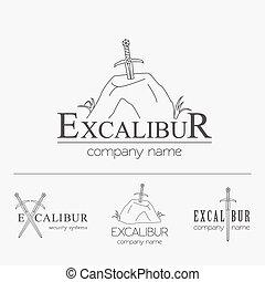 Excalibur outline Insignia and Logo - Excalibur outline...