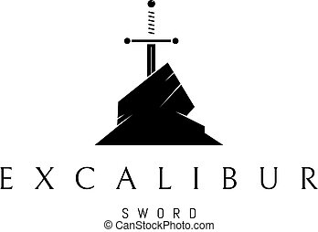 Excalibur vector logo image - The logo depicts the legendary...