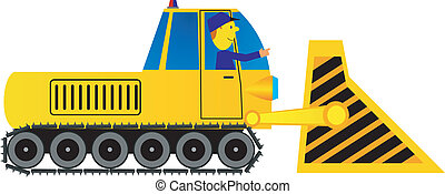 excavadora, conductor