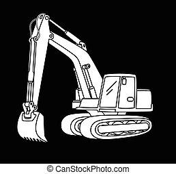 excavateur, icône