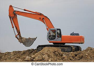 excavateur, pelle