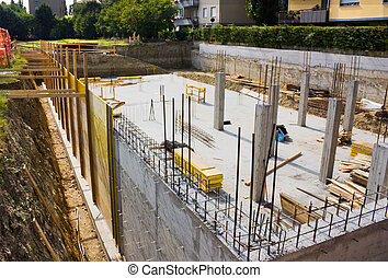 foundation - excavation and foundation for the construction...