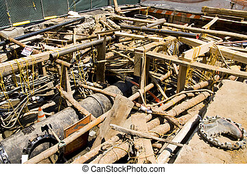 Excavation for electrical conduits and water main - ...