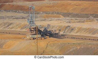 excavation, mine de charbon