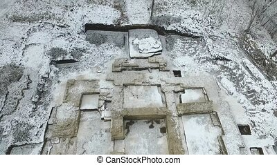 Excavation of an old orthodox temple