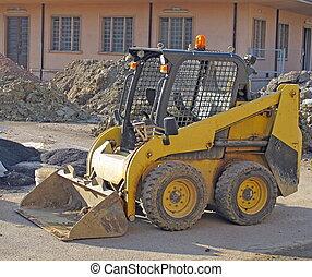 excavation, pendant, construction, route, site, bulldozer