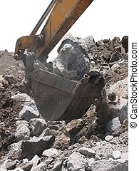 Excavation - Derocking using heavy machinery