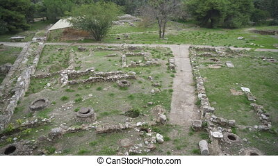 Excavations of ancient archaeological site.