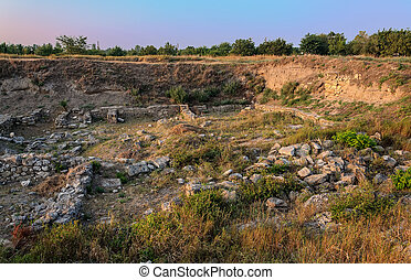 Excavations of the ancient city in Crimea. Journey through ancient Crimea
