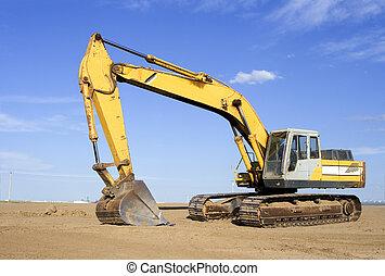 excavator - Back hoe on a work site