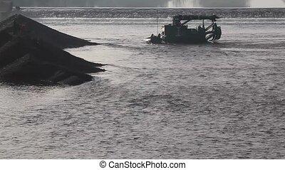 Excavator boat