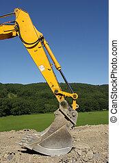Excavator Bucket - Steel bucket of an earth excavator...