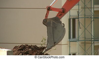 Excavator Bulldozer in Construction zone