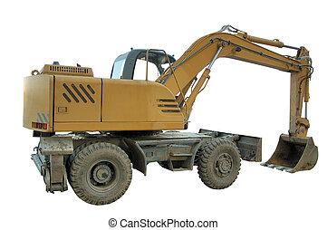 excavator - bulldozer isolated