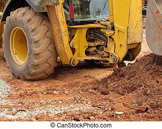 excavator detail - industry, industrial, construction, ...