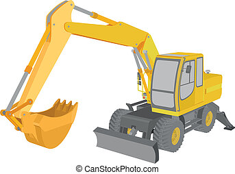 Excavator - detailed illustration of an excavator