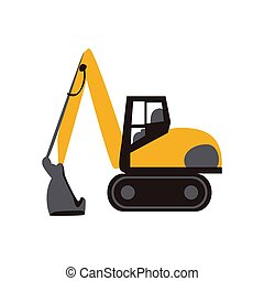 Excavator icon on a white background. Vector illustration