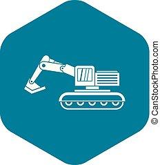 Excavator icon simple