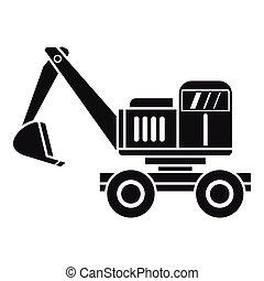Excavator icon, simple style