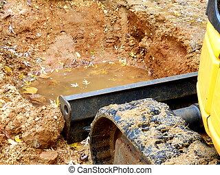 Excavator in action!