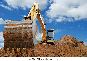 Excavator Loader bulldozer with big bucket - Excavator...