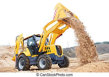 Excavator Loader with backhoe works