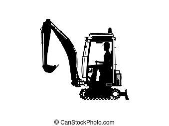 excavator., mini